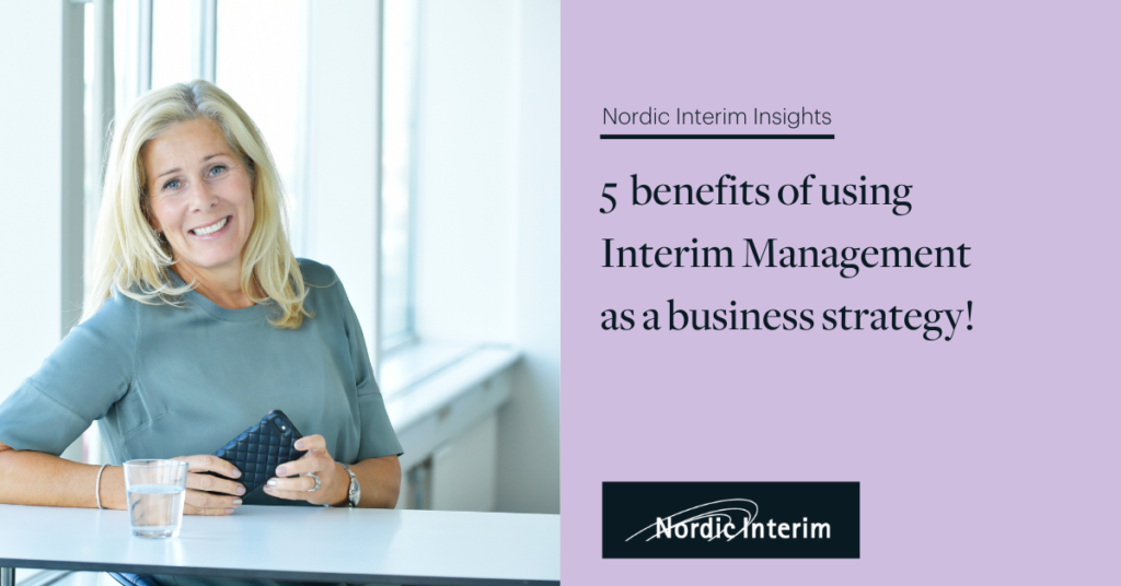 5 benefits using Interim Leaders as a business strategy