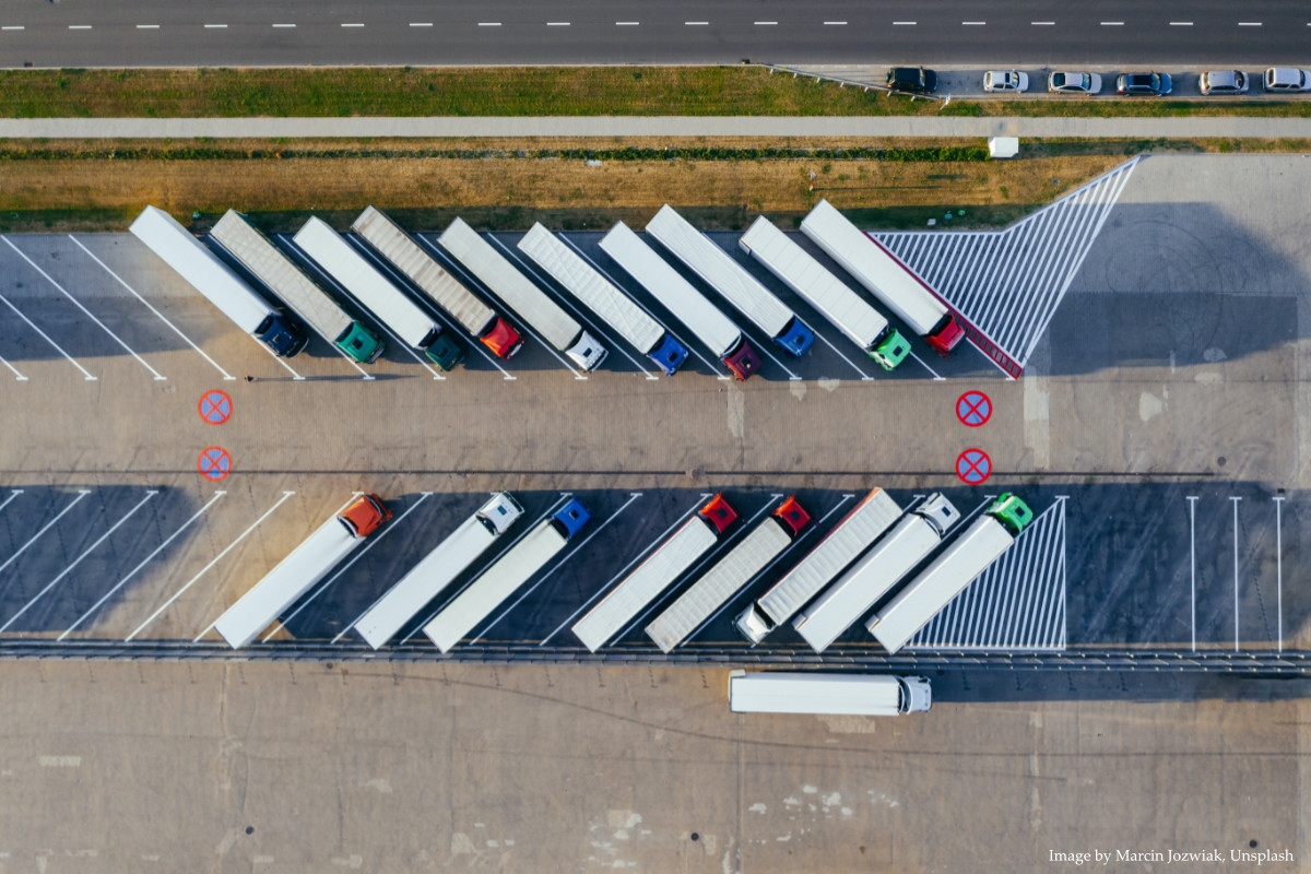 trucks airial marcin jozwiak unsplash