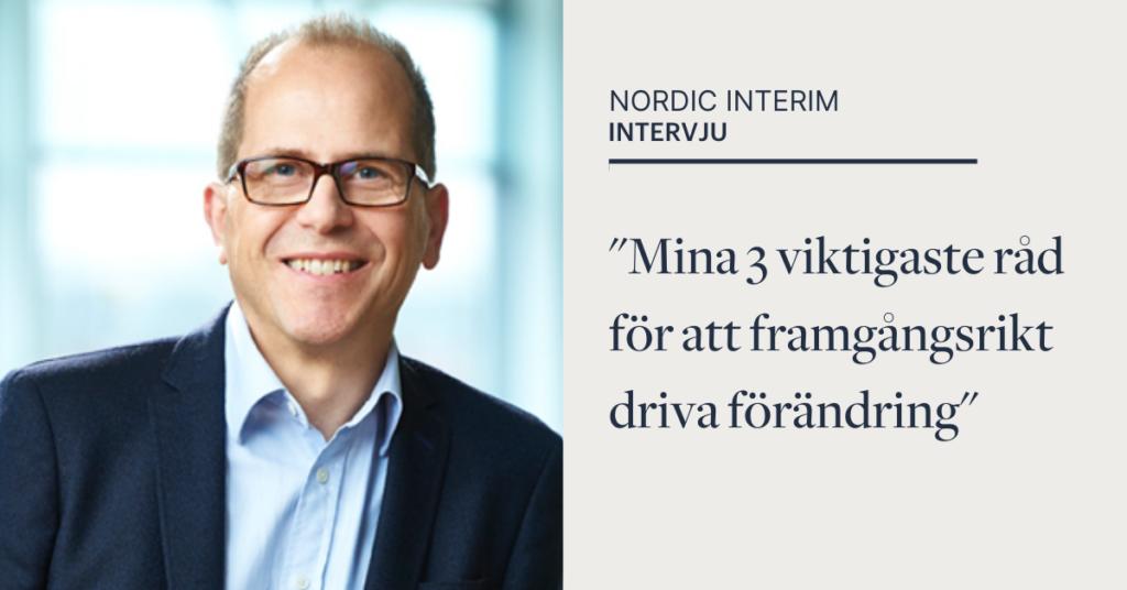 Leif Mårtensson, Interim CFO