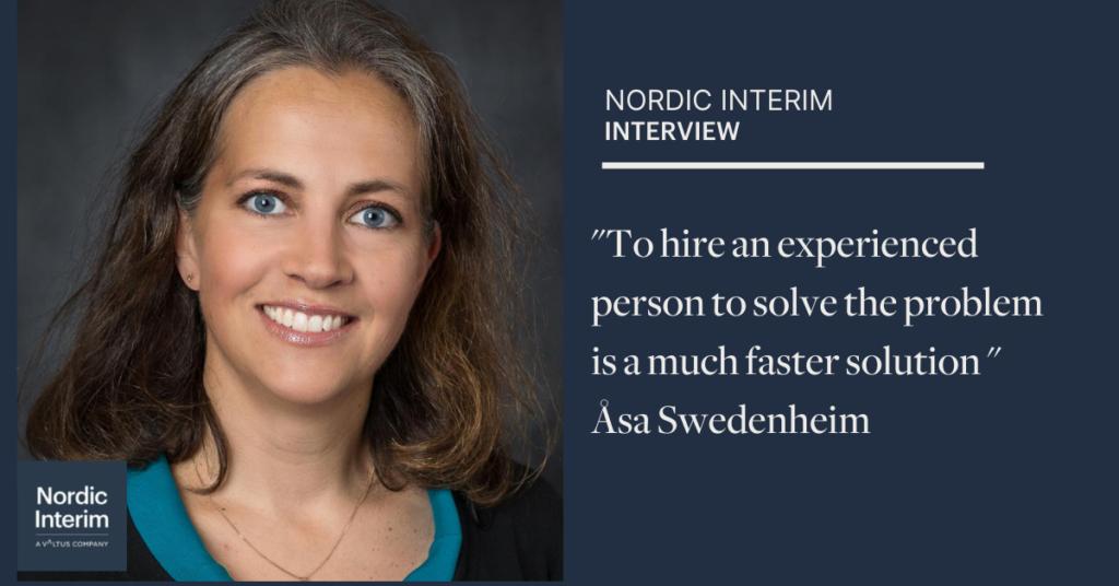 Åsa Swedenheim, Interim Manager