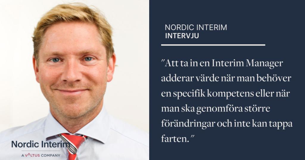 Niklas Hjelmsäter, Interim CFO